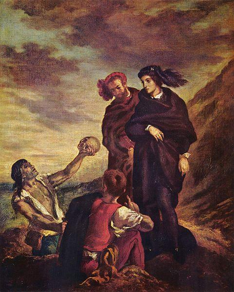 Hamlet, Horatio, Memento Mori, Death, Mortality, Shakespeare, Eugene Delacroix